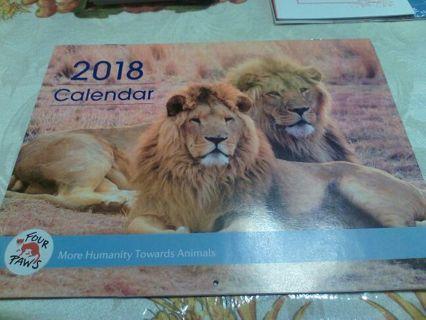 2018 Four Paws Calendar and Nine Dog/Cat Christmas Card Lot