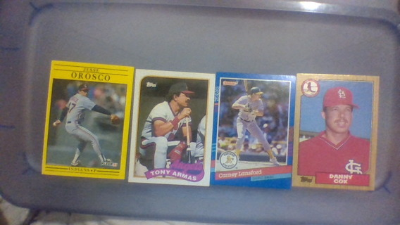 Lot (4) of baseball cards