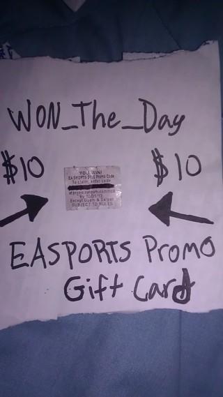 $10 EA-SPORTS GIFT CARD!!!