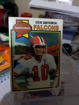 1979 Topps Steve Bartkowski card Atlanta Falcons
