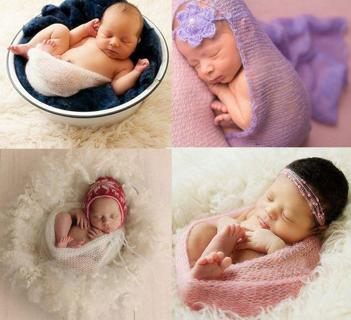 Newborn Baby Knitted Mohair Wrap Cocoon Photo Photography Prop