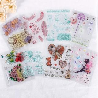 Alphabet Transparent Silicone Clear Rubber Stamp Sheet Cling Scrapbooking