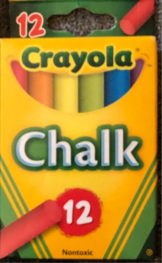 NB 12 Crayola Chalk Sticks! Great Vibrant Colors! Non Toxic. Anti Break For Teaching Crafts Or Play