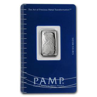2.5 Gram Silver PAMP Bar