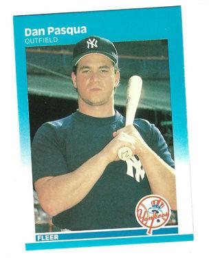 1987 Fleer New York Yankees Baseball Card #108 Dan Pasqua