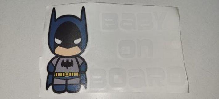 Batman Baby On Board Decal