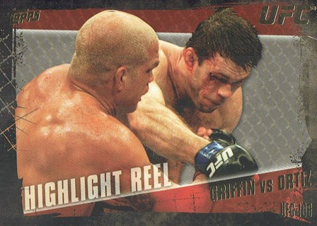 UFC 106 MMA 2010 Topps Collectible Trading Card (Thick Card) Griffin VS Ortiz #189
