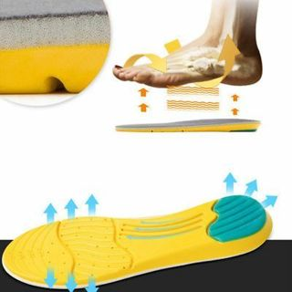 1Pair Breathable Memory Foam Unisex Sports Insoles Shoes Pad Men Women Foot Pad
