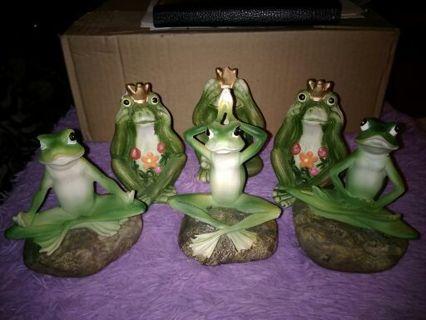 6 Garden Frogs
