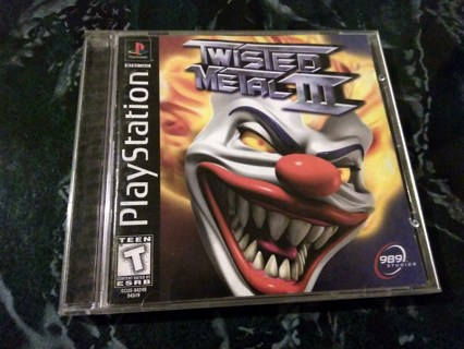 GUC+*RARE CLASSIC*+TWISTED METAL III(#3)Playstation 1*Works Perfectly*VEHICULAR COMBAT PS1 1998 GAME
