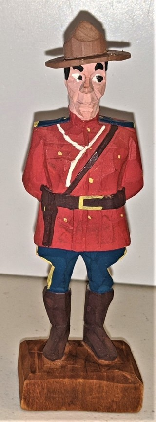 """RCMP wooden Canadian Policeman - 6"""" tall"""