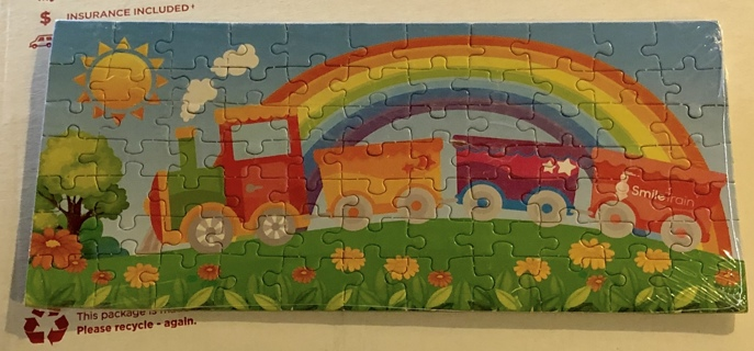 BNIP 77 Piece Rainbow-Train-Smile Puzzle. Regular Sized Pieces. Cute Puzzle For & By Kids