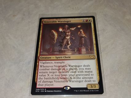 Magic the gathering mtg venerable warsinger rare card Strixhaven