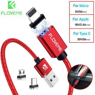FLOVEME 3A magnetische Adapter Ladekabel Micro USB für iPhone Android Typ C