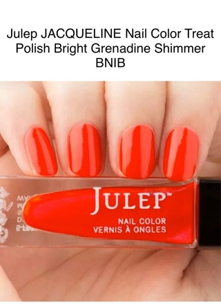 JACQUELINE Julep Nail Color Treat Polish Bright Grenadine Shimmer!