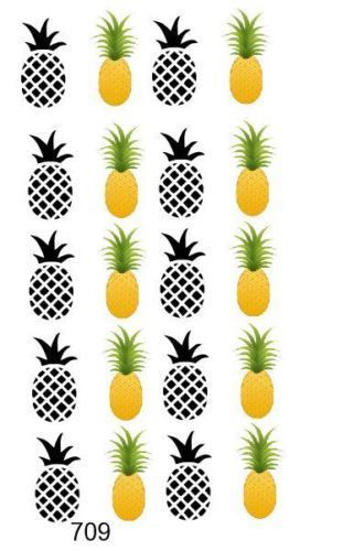 Pineapple Waterslide nail decals/ Nail Art Salon Quality!