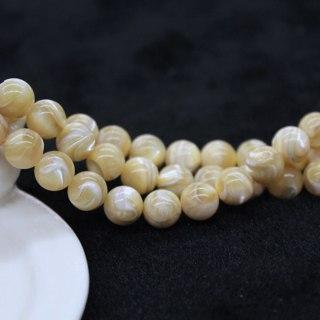 "Natural Gemstone Trochus Shell Stone Beads Strand 15"""