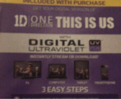 One Direction: This is Us Digital copy