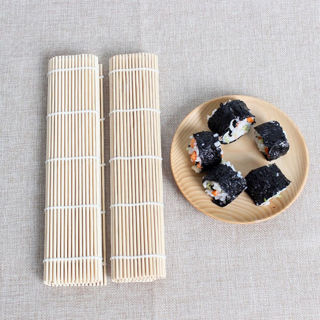 Kichen DIY Sushi Rolling Roller Bamboo Material Maker Mat and A Rice Paddle Kit