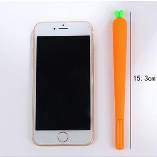 1Pcs New Cute Carrot 0.5mm Plastic Gel Pen Office School Gift Stationery Pen
