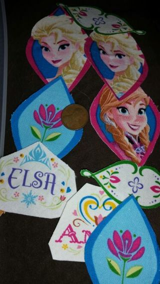 Lot of Disney Frozen iron on cloth with Pelon backing