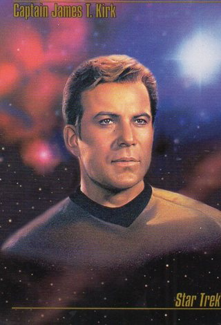 1993 Star Trek Collectible/Trade Card: Captain James T Kirk