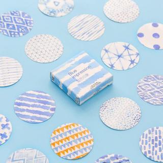 45Pcs/lot Creative Cute Blue Painting Mini Paper Sticker Decoration Diy Ablum Diary Scrapbooking L