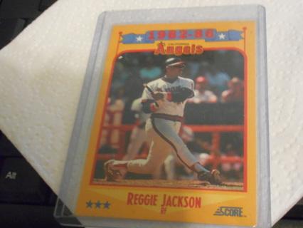 Free 1988 Score Salute To Reggie Jackson 1982 86 Baseball Card