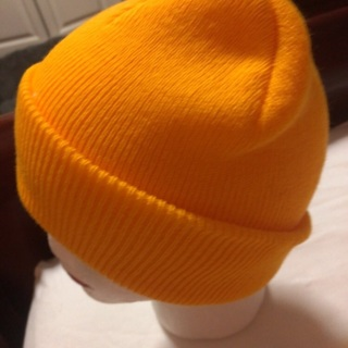 Knitted Mango Slouchy Hat .