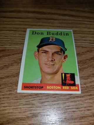 1958 Topps Baseball Don Buddin #297,Boston Red Sox,EX condition,Free Shipping!