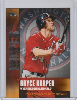 Topps 2013 Chasing The Dream CD-1 Bryce Harper Baseball Card NM-Mint condition