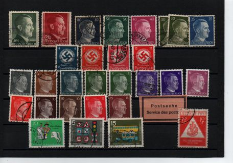 Quick page sell off - old Germany Reich Hitler stamps