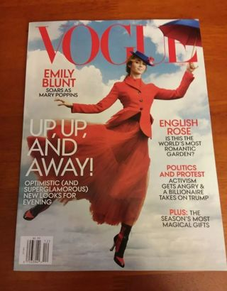 Vogue December 2018 Emily Blunt Mary Poppins