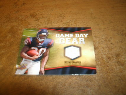 2009 ud football jersey relic-steve slaton-texans-game day gear-nfl-ex