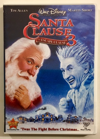 The Santa Clause 3 - The Escape Clause DVD Disney Movie With Case, Mint Disc, and Artwork