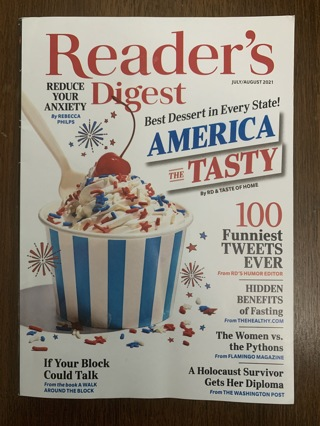 Readers Digest - July/August 2021 edition - 128 pages