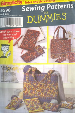 Free Simplicity Sewing For Dummies Pattern 5598 Totes