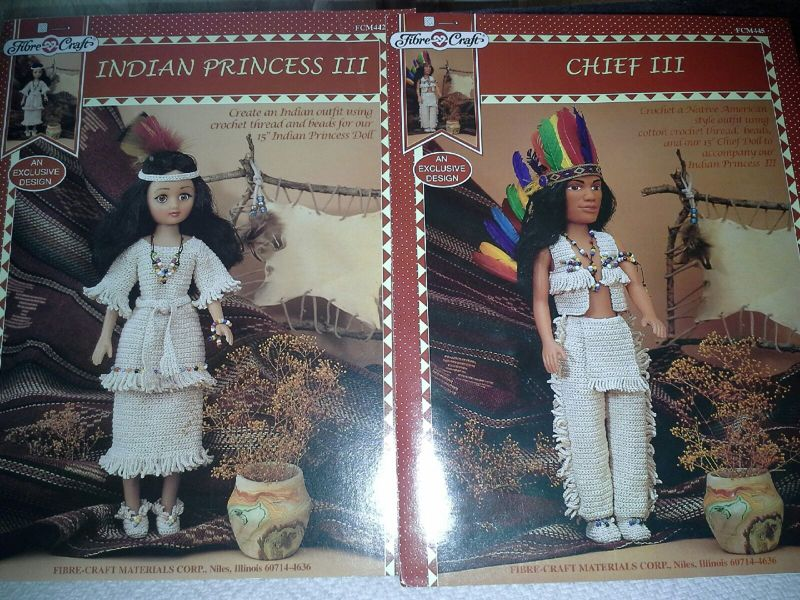 Free Crochet Patterns For 15 Indian Chief And 145 Indian