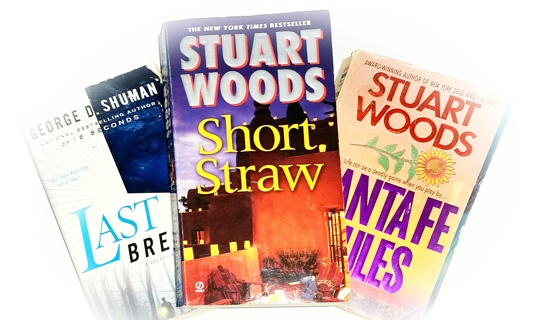 (3 Books!) Last Breath by George D. Shuman, Santa Fe Rules & Short Straw by Stuart Woods