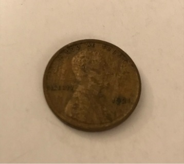 1921 Wheat Cent Lincoln Cent Penny