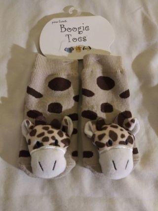 PIERO LIVENTI PIero LIventi Pair Boogie Toes Baby Rattle Socks Giraffe Size 1-2yrs