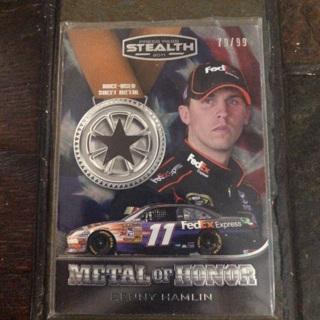 Denny Hamlin Race Used Sheet Metal Card 79/99
