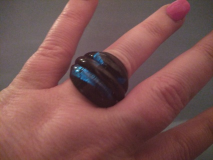 Black and Blue Ring