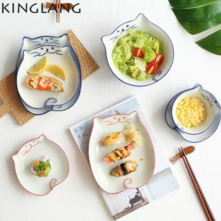 So Cute Ceramic Cat Soy HOT Sauce Dish Japanese Ceramic Dinner Set Mixing