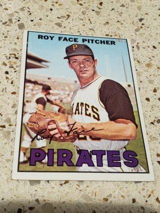 1967 Roy Face Pittsburgh pirates vintage baseball card
