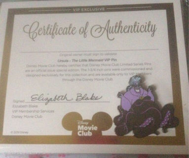 BN Disney Ursula Trading pin