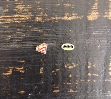 Superman & Batman Floating Charms