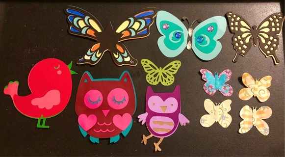 Butterfly/Bird Themed Layered Handcrafted Die Cuts