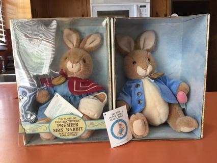 Beatrix Potter Peter Rabbit & Mrs. Rabbit Collectibles