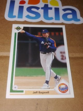 JEFF BAGWELL⭐ HOUSTON ASTROS ⭐1991 UPPER DECK #755⭐ ROOKIE CARD ⭐ FREE $HIPPING